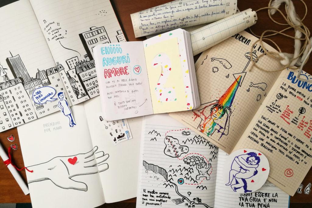 Lettere e disegni storia a distanza